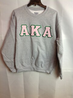 Super Savings - Alpha Kappa Alpha Lettered Crewneck - Gray
