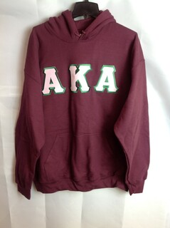 Super Savings - Alpha Kappa Alpha Lettered Hooded Sweatshirt - Maroon