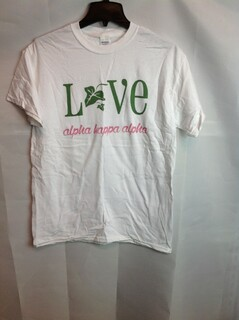 Super Savings - Alpha Kappa Alpha Love Shirt - White - M