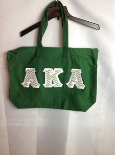 Super Savings - Alpha Kappa Alpha Tote Bag - Forest Green