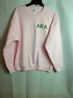 Super Savings - Alpha Kappa Alpha World Famous Crest - Shield Crewneck - Pink - L - 2 of 3