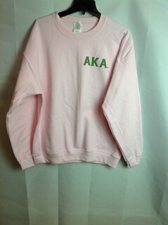 Super Savings - Alpha Kappa Alpha World Famous Crest - Shield Crewneck - Pink - XL - 1 of 3