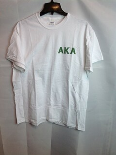 Super Savings - Alpha Kappa Alpha World Famous Crest T-Shirt - White - L
