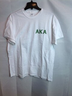 Super Savings - Alpha Kappa Alpha World Famous Crest T-Shirt - White - XL