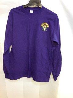 Super Savings - Alpha Kappa Lambda Crest - Shield Emblem Long Sleeve Tee - Purple