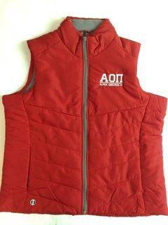 Super Savings - Alpha Omicron Pi Admire Vest - RED