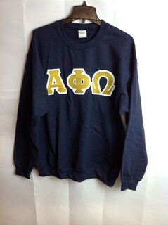 Super Savings - Alpha Phi Omega Lettered Crewneck - Navy