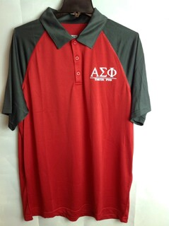 Super Savings - Alpha Sigma Phi Polo - Red 1 of 3