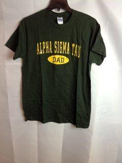 Super Savings - Alpha Sigma Tau Dad T-Shirt - Forest Green