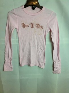Super Savings - Alpha Xi Delta Thermal Long Sleeve Shirt - Pink
