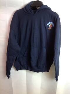Super Savings - Beta Theta Pi Crest - Shield Emblem Hooded Sweatshirt - Navy