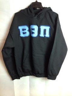 Super Savings - Beta Theta Pi Lettered Hooded Sweatshirt - Black