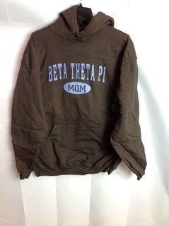 Super Savings - Beta Theta Pi Mom Hooded Sweatshirt - Brown