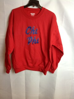 Super Savings - Chi Phi Twill Name Crewneck - Red