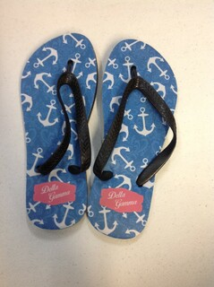 Super Savings - Delta Gamma Anchor Flip Flops