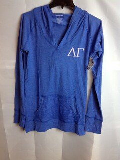 Super Savings - Delta Gamma Boyfriend Hoodie - Blue