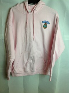 Super Savings - Delta Gamma Crest - Shield Emblem Hooded Sweatshirt - Pink - 1 of 3
