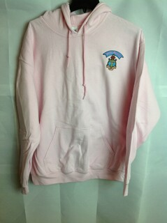 Super Savings - Delta Gamma Crest - Shield Emblem Hooded Sweatshirt - Pink - 2 of 3