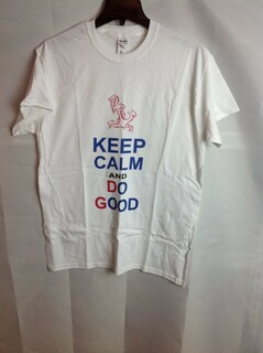 Super Savings - Delta Gamma Keep Calm T-Shirt - White - M