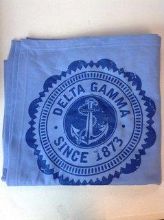 Super Savings - Delta Gamma Sweatshirt Blanket - Light Blue