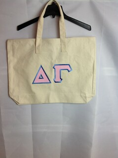 Super Savings - Delta Gamma Tote Bag - Natural