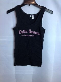 Super Savings - Delta Gamma Trademark Tank Top - Black