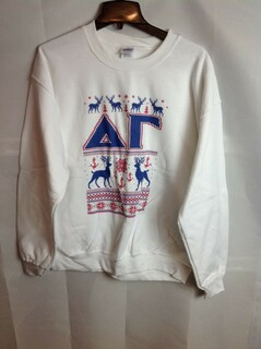 Super Savings - Delta Gamma Ugly Christmas Sweater Crewneck - White - 2 of 4