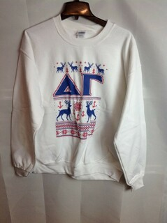 Super Savings - Delta Gamma Ugly Christmas Sweater Crewneck - White - 3 of 4