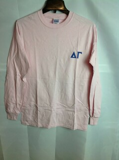 Super Savings - Delta Gamma World Famous Crest Long Sleeve T-Shirt - Pink