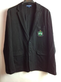 Super Savings - Delta Sigma Phi Crest - Shield Blazer - Black