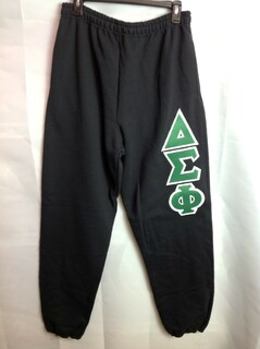 Super Savings - Delta Sigma Phi Lettered Sweatpants - Black