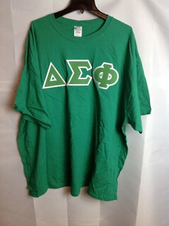 Super Savings - Delta Sigma Phi Lettered Tee - Irish Green