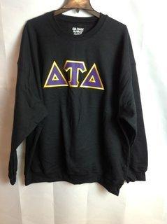 Super Savings - Delta Tau Delta Letter Hooded Sweatshirt - Black