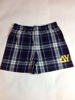 Super Savings - Delta Upsilon Flannel Boxer Shorts - NAVY