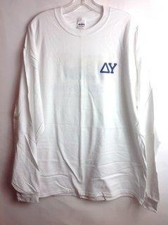 Super Savings - Delta Upsilon Long Sleeve Whale Shirt - White
