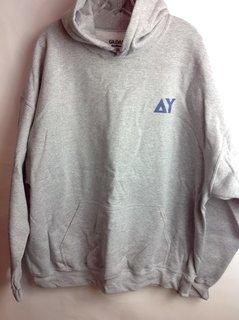 Super Savings - Delta Upsilon World Famous Crest - Shield Hooded  Sweatshirt - Gray