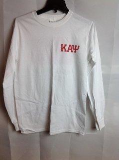 Super Savings - Kappa Alpha Psi Flag Long Sleeve T-Shirt - White 2 of 3