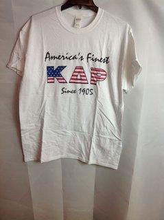 Super Savings - Kappa Delta Rho America's Finest T-Shirt - White