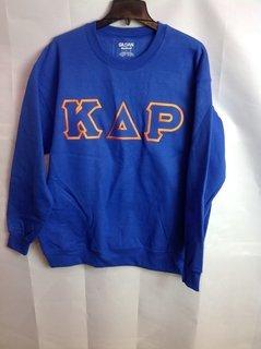Super Savings - Kappa Delta Rho Lettered Crewneck - Blue