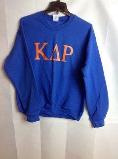 Super Savings - Kappa Delta Rho Lettered World Famous Greek Crewneck - Blue