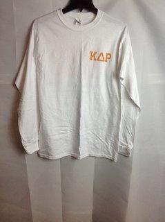 Super Savings - Kappa Delta Rho Long Sleeve Flag T-Shirt - White