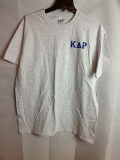Super Savings - Kappa Delta Rho World Famous Crest - Shield T-Shirt - Gray