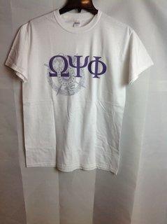 Super Savings - Omega Psi Phi Crest - Shield Tee - White - M