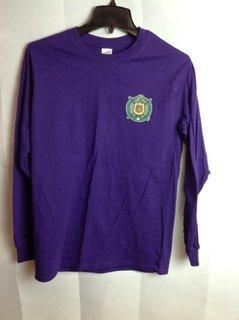 Super Savings - Omega Psi Phi Long Sleeve Crest - Shield Tee - Purple