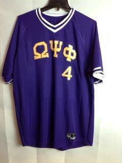 Super Savings - Omega Psi Phi Retro V-Neck Baseball Jersey - Purple