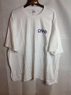 Super Savings - Omega Psi Phi World Famous Crest - Shield T-Shirt - White