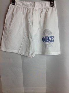 Super Savings - Phi Beta Sigma Boxer Shorts - White