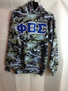 Super Savings - Phi Beta Sigma Camo Pullover Hooded Sweatshirt - Woodland Blue
