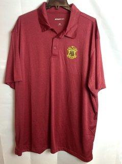 Super Savings - Phi Kappa Psi Crest - Shield Emblem Polo - Cardinal Red