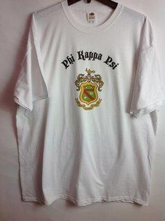 Super Savings - Phi Kappa Psi Vintage Crest - Shield T-Shirt - WHITE